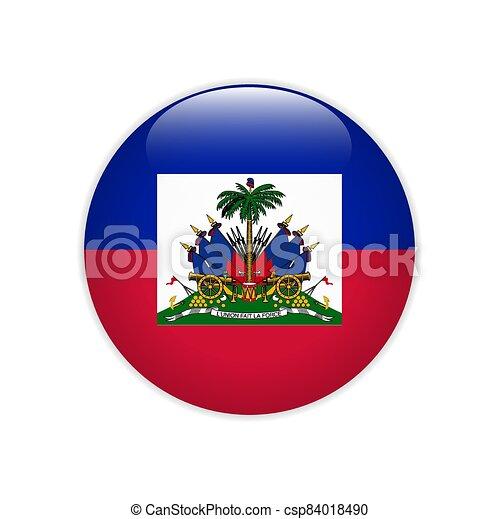 Flag of Haiti button Vector illustration - csp84018490
