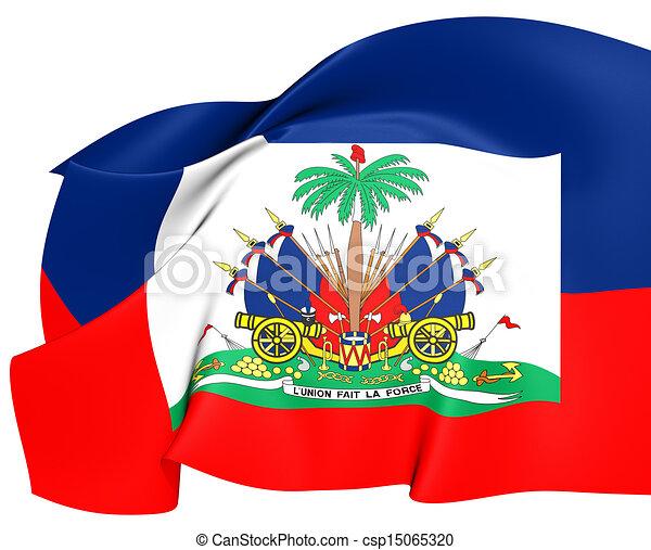 Flag Of Haiti Close Up