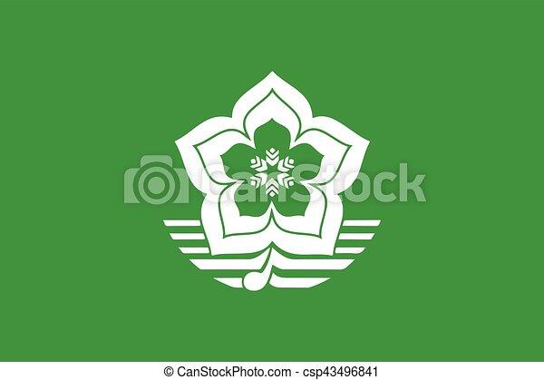 Flag of Harbin, China. Vector Format - csp43496841