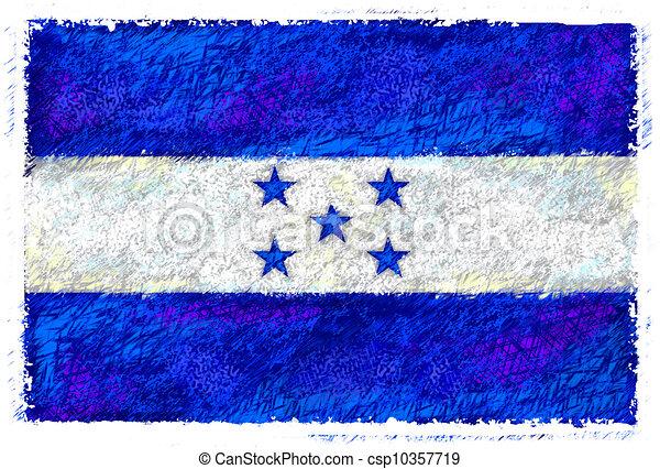 Flag of Honduras - csp10357719