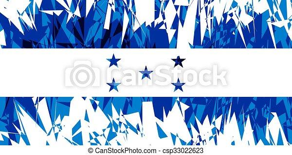 Flag of Honduras. - csp33022623