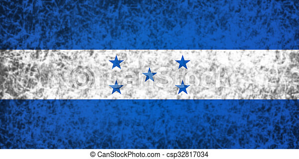 Flag of Honduras. - csp32817034