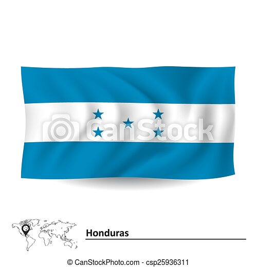 Flag of Honduras - csp25936311