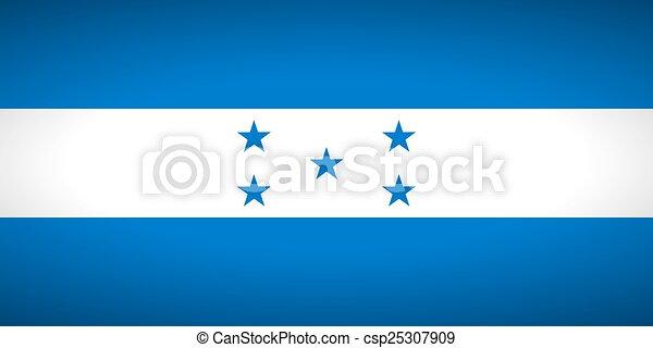 Flag of Honduras. - csp25307909