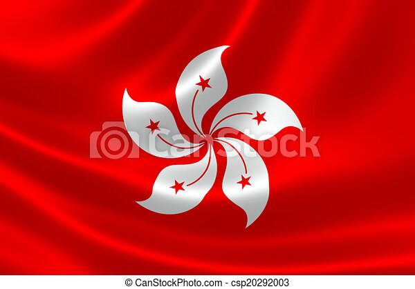 Flag Of Hong Kong Special Administrative Region Sar 3d Rendering