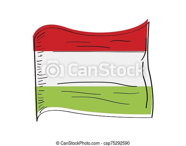 Flag of Hungary - csp75292590