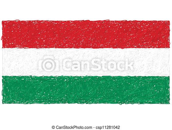 flag of hungary - csp11281042