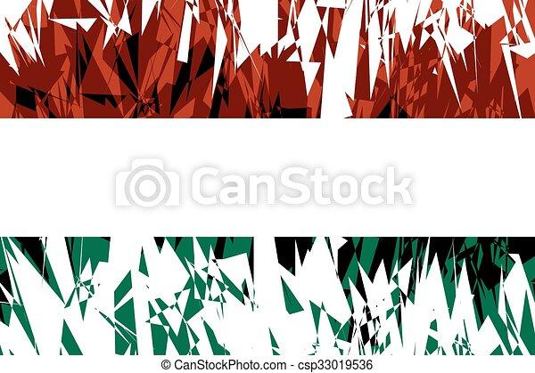 Flag of Hungary. - csp33019536