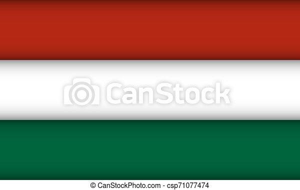 Flag of Hungary. - csp71077474