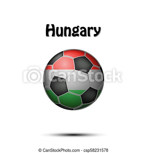 Flag of Hungary in the form of a soccer ball - csp58231578