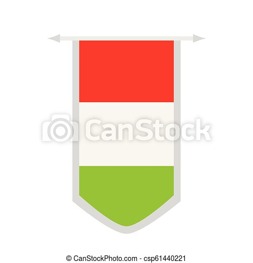 Flag of Hungary on a banner - csp61440221