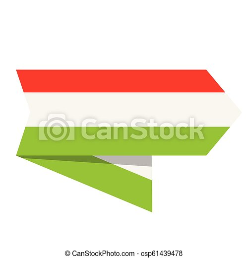 Flag of Hungary on a label - csp61439478