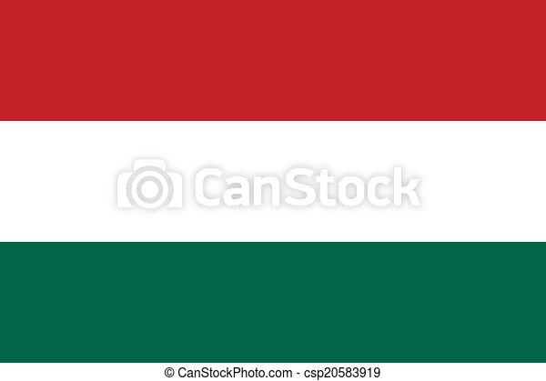 Flag of Hungary - csp20583919
