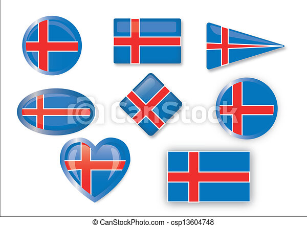 flag of Iceland - csp13604748