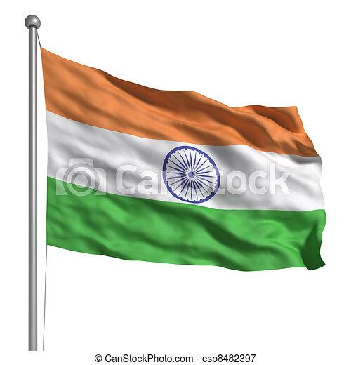 Flag of India - csp8482397