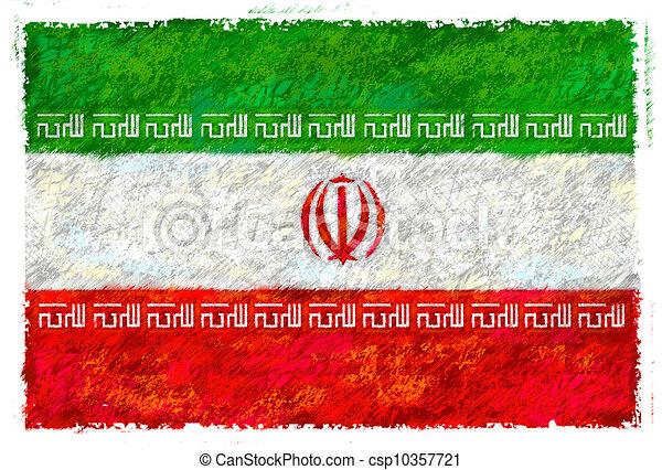 Flag of Iran - csp10357721