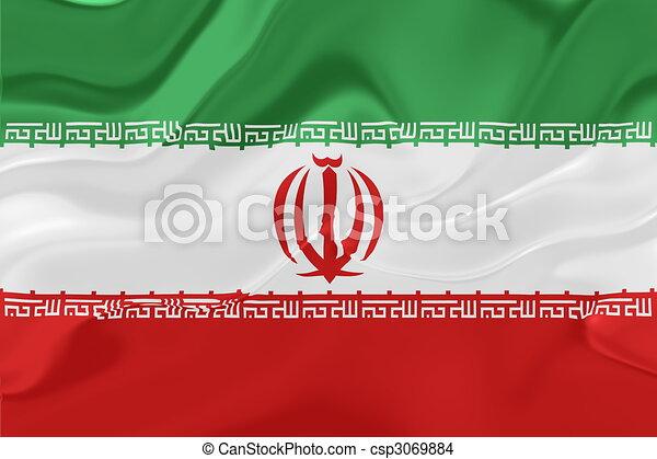 Flag Of Iran Wavy Flag Of Iran National Country Symbol Drawing