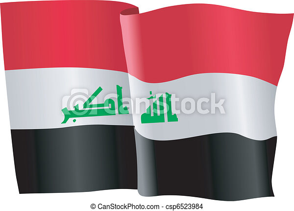 flag of Iraq - csp6523984