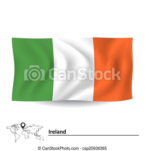 Flag of Ireland - csp25936365