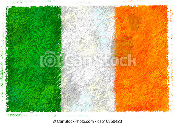 Flag of Ireland - csp10358423