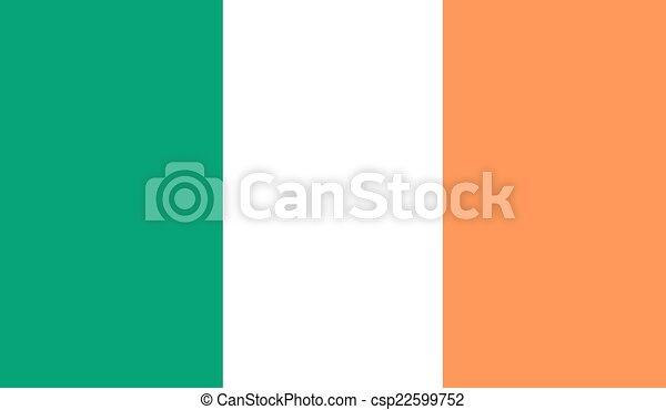 Flag of Ireland - csp22599752