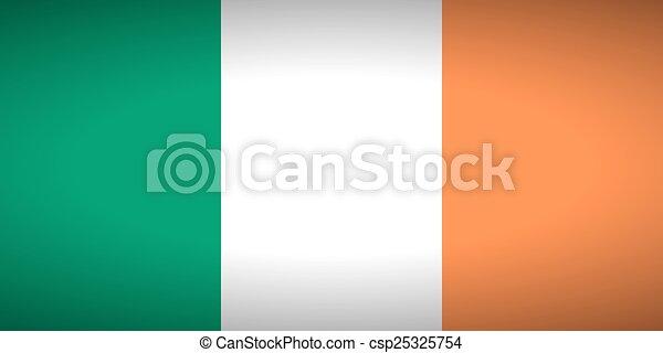 Flag of Ireland - csp25325754