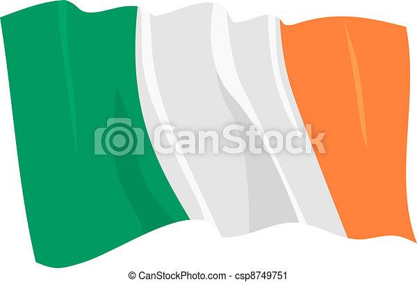 flag of Ireland Republic - csp8749751