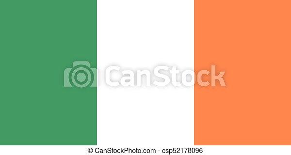Flag of Ireland - vector - csp52178096