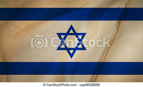 Flag of Israel background. - csp46028689