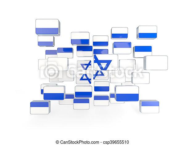 Flag of israel, mosaic background - csp39655510
