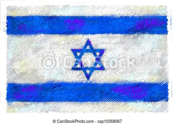 Flag of Israel - csp10358067