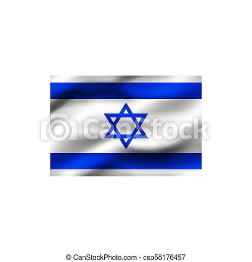 Flag of Israel. - csp58176457