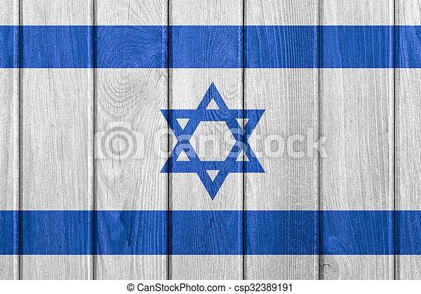 flag of Israel - csp32389191