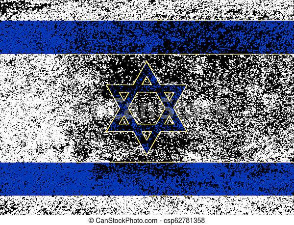 Flag of Israel With Dark Grunge - csp62781358