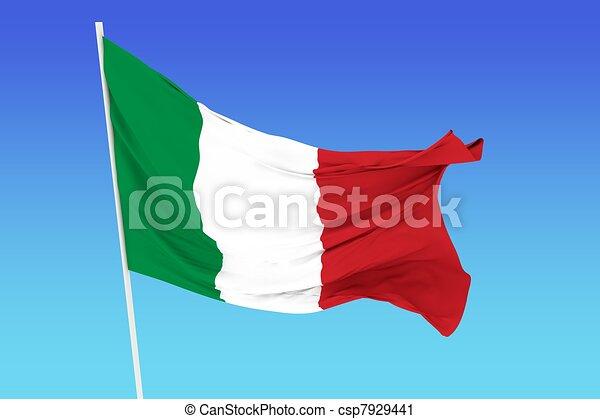Flag of Italy - csp7929441