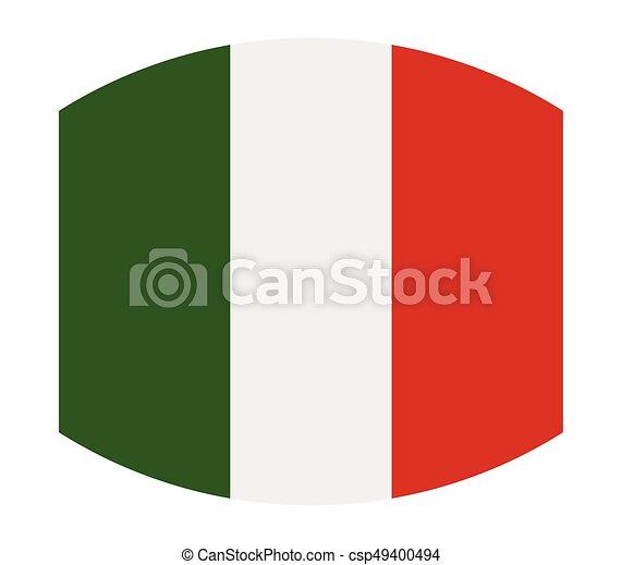 Flag of italy - csp49400494