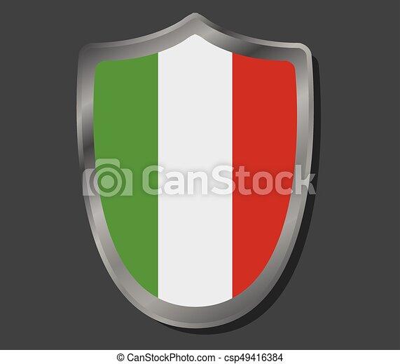 Flag of italy - csp49416384
