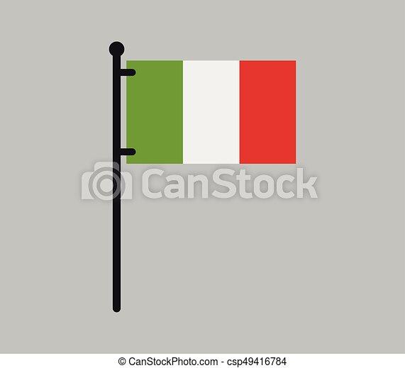 Flag of italy - csp49416784