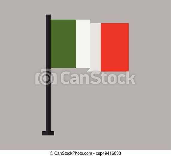 Flag of italy - csp49416833