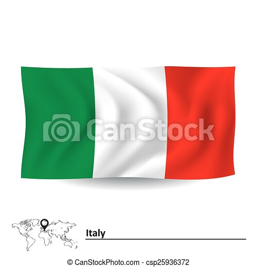 Flag of Italy - csp25936372