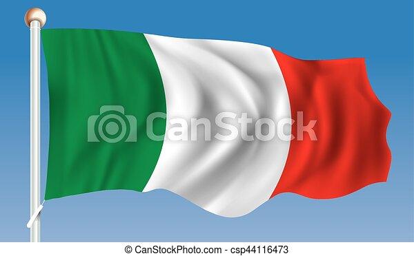 Flag of Italy - csp44116473