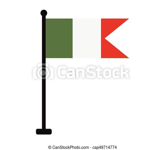 Flag of italy - csp49714774