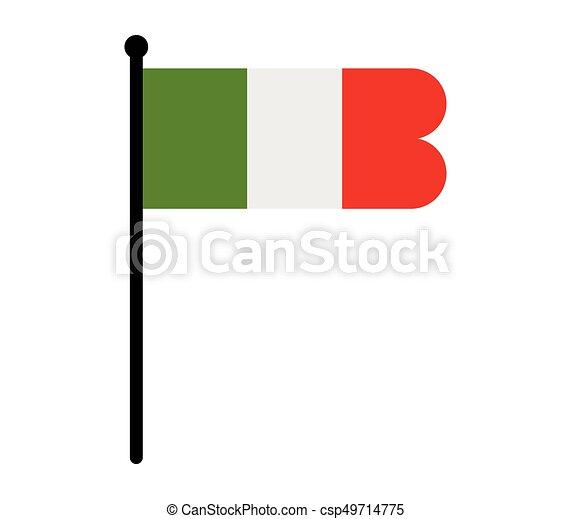 Flag of italy - csp49714775