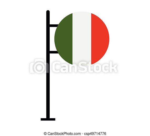 Flag of italy - csp49714776