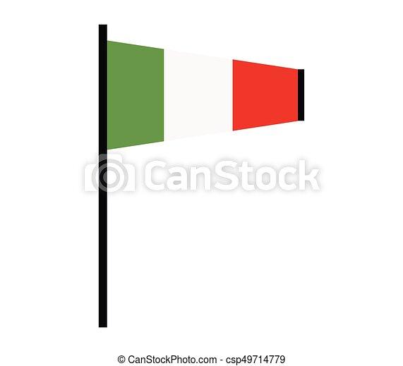 Flag of italy - csp49714779