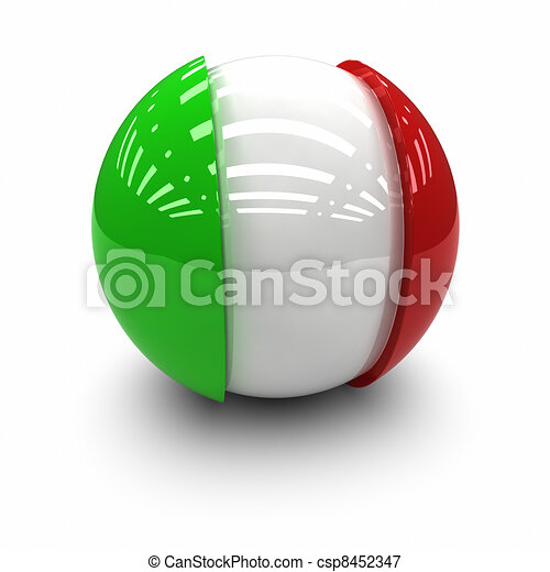 Flag of Italy - csp8452347