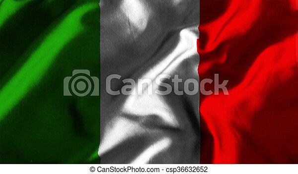 Flag of italy - csp36632652