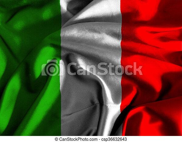 Flag of italy - csp36632643