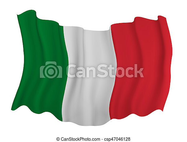 Flag of italy - csp47046128
