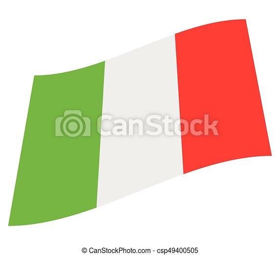 Flag of italy - csp49400505